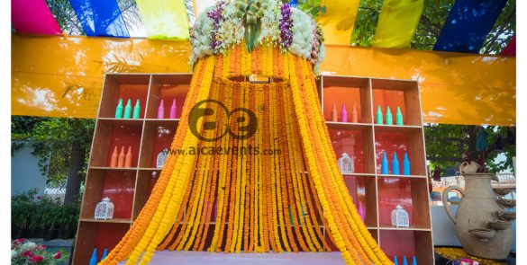 traditional_mehendi_ceremony_decoration by aicaevents