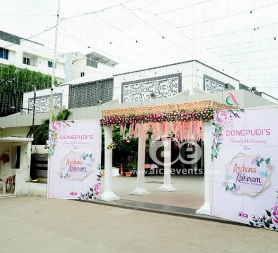HalfSaree-function-Entrance-Arch-Decoration-with-welcome-Banners