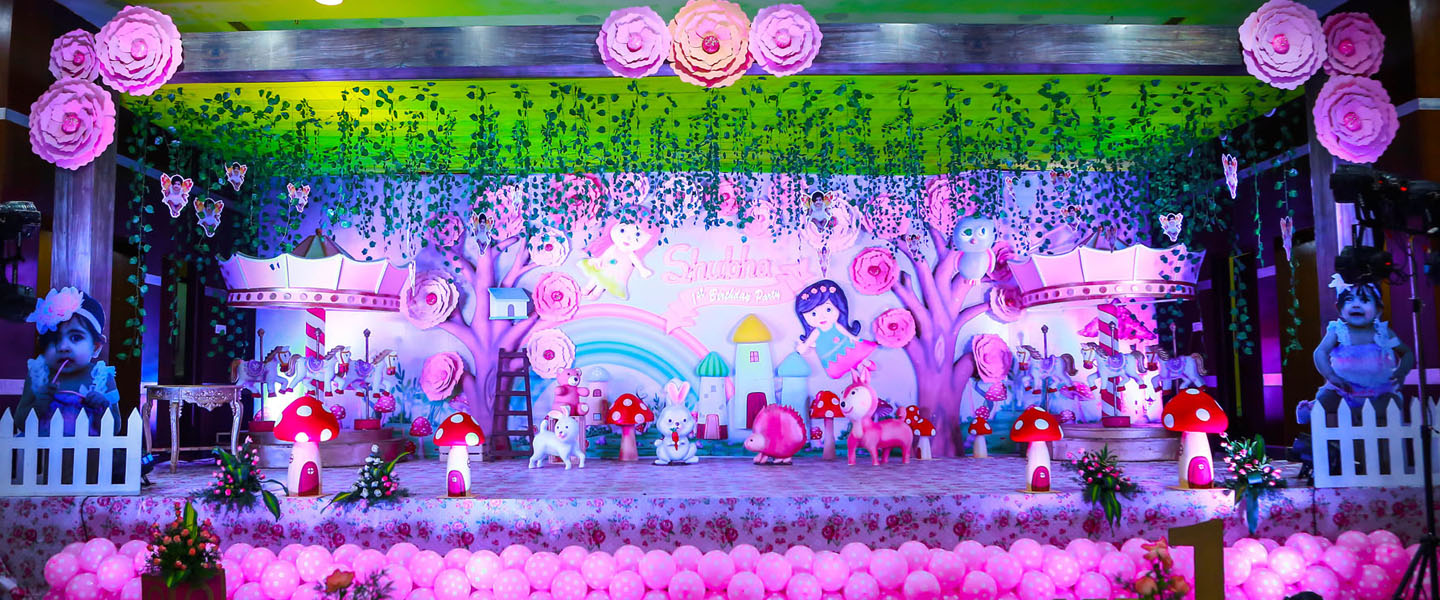 Fairy theme with carnival carousel horses
